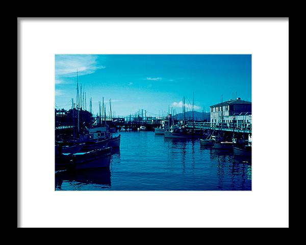 Fisherman's Wharf Framed Print featuring the photograph Fisherman's Wharf 1955 by Cumberland Warden