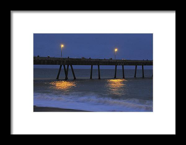 Pacifica Pier Framed Print featuring the photograph Fishermen On The Pacifica Pier by Scott Lenhart