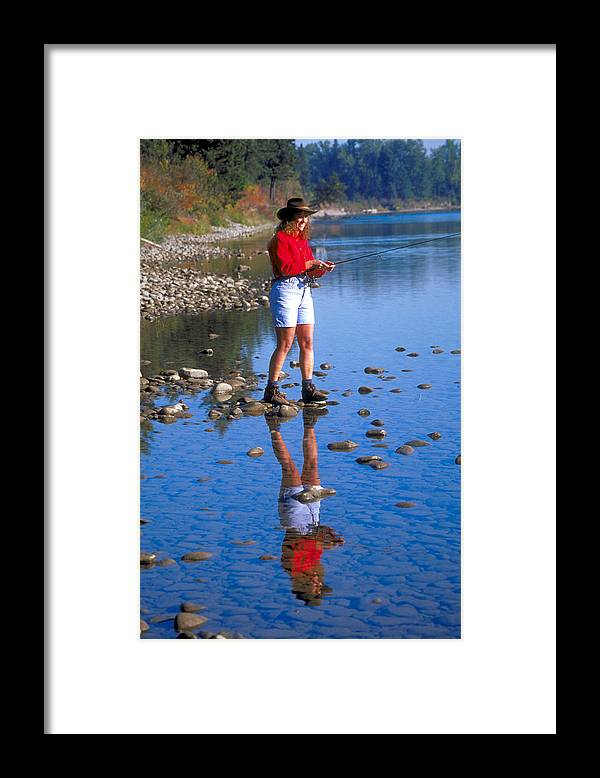 Pretty Woman Framed Print featuring the photograph Perfect Reflection Of Beautiful Woman by Carl Purcell