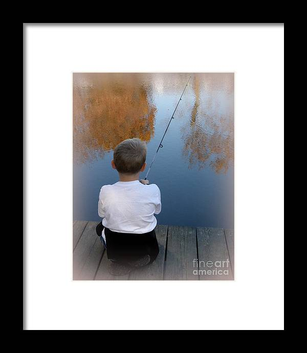 Fishing Framed Print featuring the photograph Fishin' by Lainie Wrightson