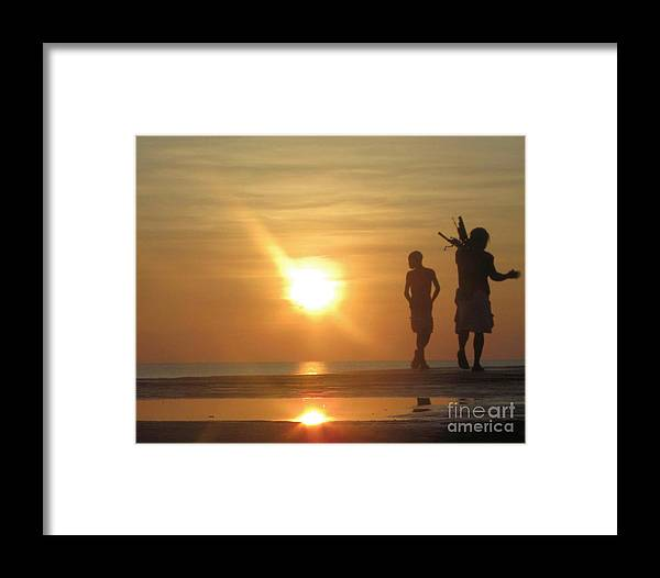 Fishing Framed Print featuring the photograph Fishing At First Light by David Call