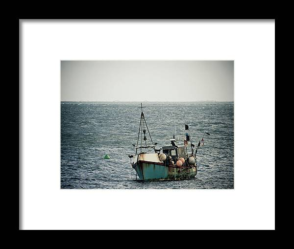 English Channel Framed Print featuring the photograph Fishing Boat by Vfka