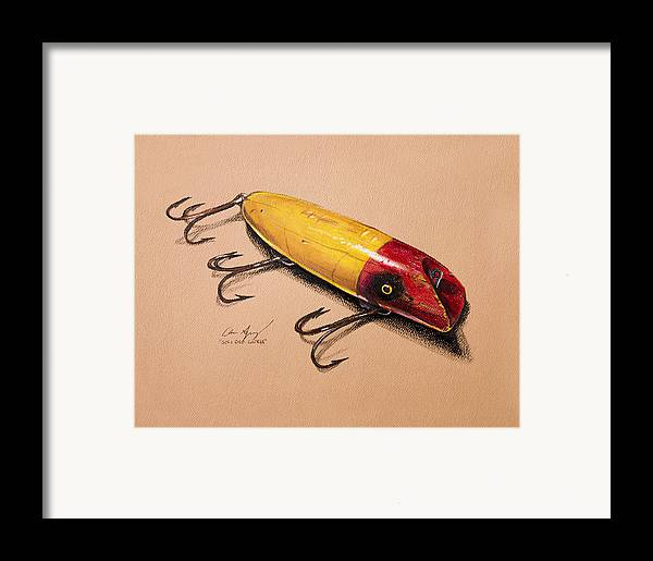 Lures Framed Print featuring the painting Fishing Lure by Aaron Spong