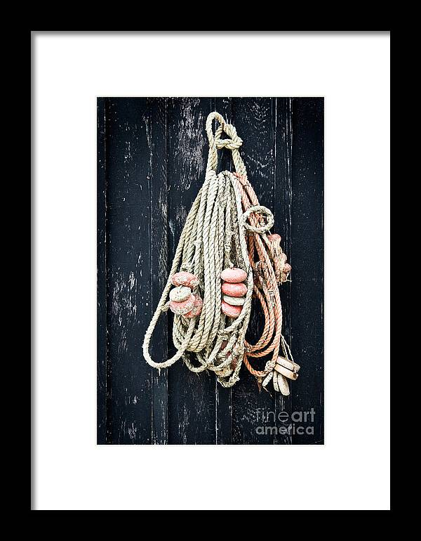 Fishing Net Framed Print featuring the photograph Fishing Net by Delphimages Photo Creations