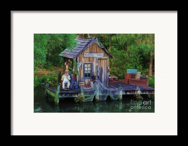 River Framed Print featuring the photograph Fishing On The Bayou by Lee Dos Santos