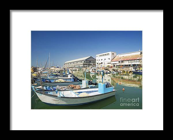 Architecture Framed Print featuring the photograph Fishing Port In Jaffa Tel Aviv Israel by Jacek Malipan