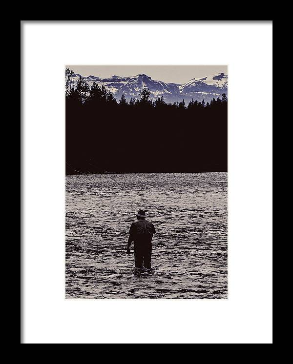 Silhouette Framed Print featuring the photograph Fishing Silhouette by Carolyn Fox
