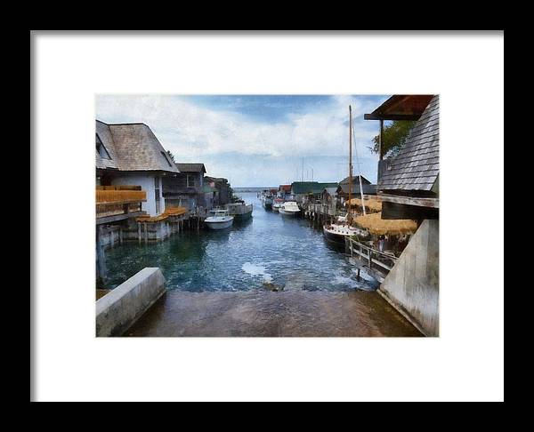 Leland Michigan Framed Print featuring the photograph Fishtown Leland Michigan by Michelle Calkins