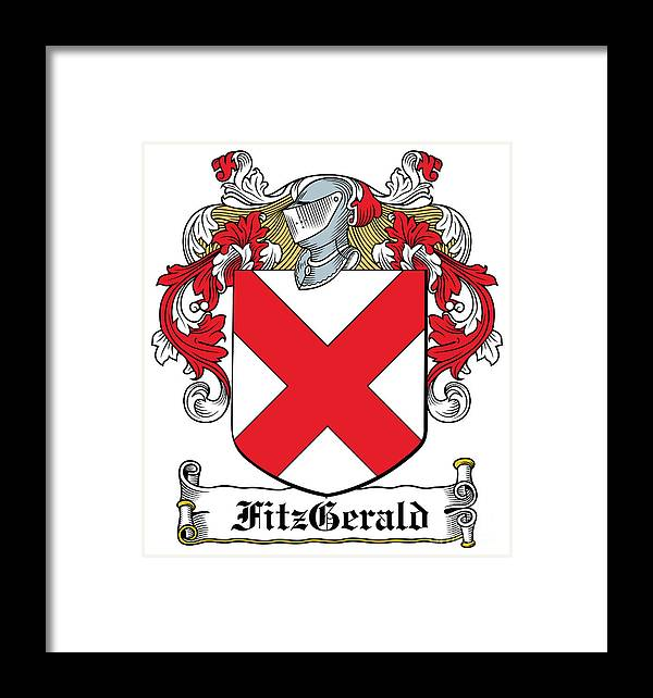 Fitzgerald Coat Of Arms Irish Framed Print By Heraldry