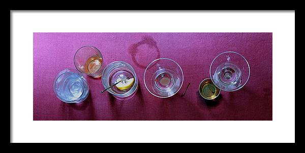Food Framed Print featuring the photograph Five Cocktails by Romulo Yanes
