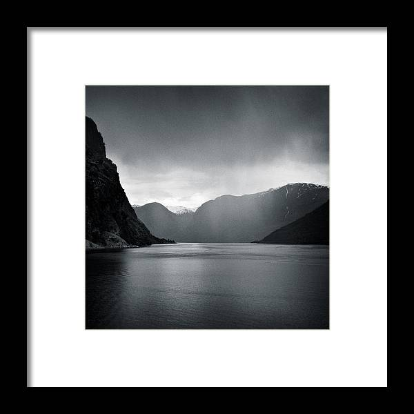 Norway Framed Print featuring the photograph Fjord Rain by Dave Bowman