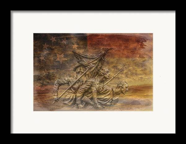 Flag Of Our Confederate Fathers Framed Print featuring the digital art Flag Of Our Confederate Fathers by Randy Steele