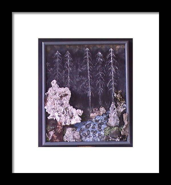 Flames Framed Print featuring the painting Flames to New Opportunities #21 by Tanna Lee M Wells