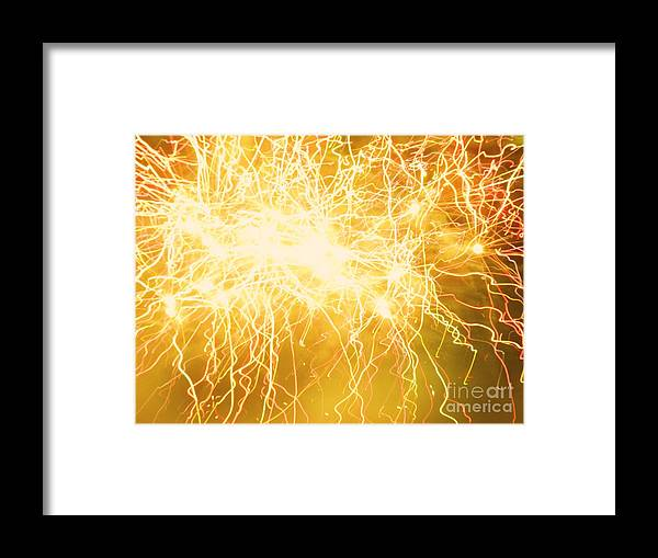 Fireworks Framed Print featuring the photograph Flaming Skies by Heather White