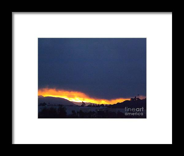 Sunrise Framed Print featuring the photograph Flaming Sunrise II by Jussta Jussta