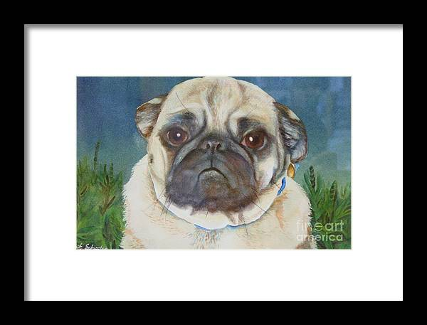 Flash Framed Print featuring the painting Flash by Amanda Schuster