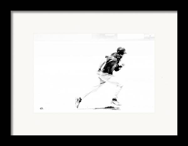 Baseball Framed Print featuring the photograph Flash by Karol Livote