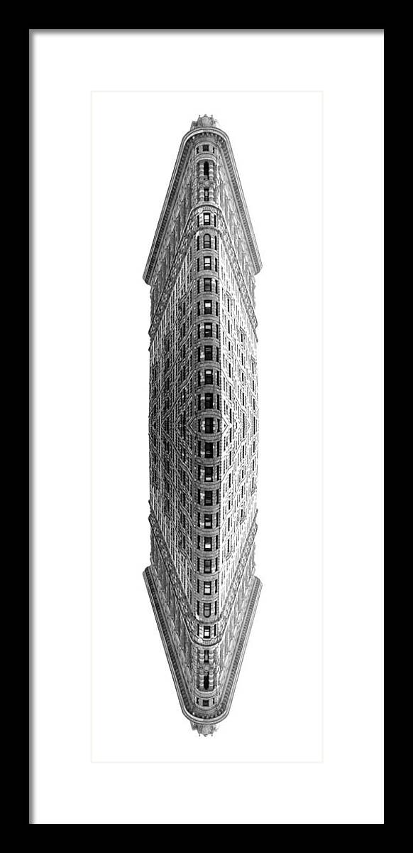 Flatiron Framed Print featuring the photograph Flatiron Building Mirrored by Todd Hartzo