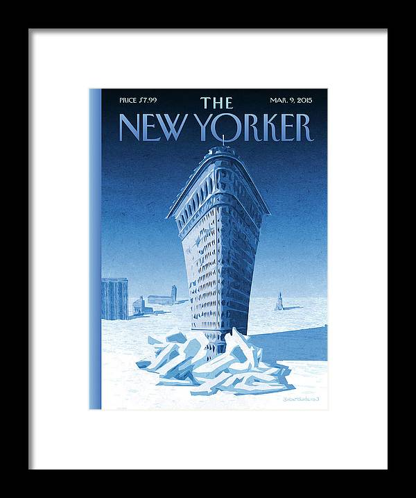 Flatiron Framed Print featuring the painting Flatiron Icebreaker by Birgit Schoessow