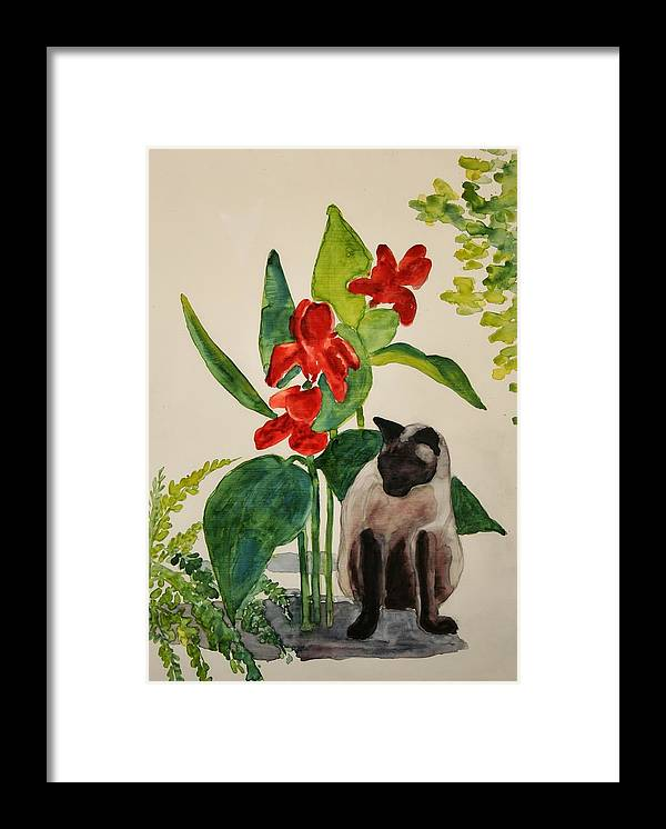 Framed Print featuring the painting Flealing by Helen Hickey