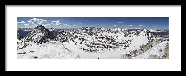 Fletcher Framed Print featuring the photograph Fletcher Mountain Summit Panorama by Aaron Spong