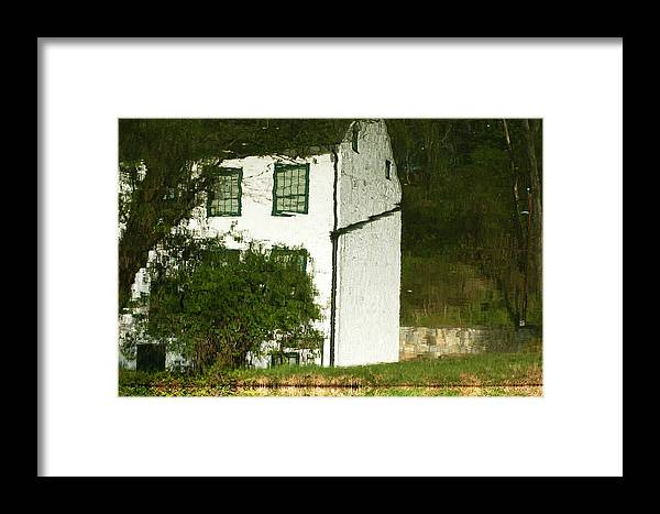 Fletcher's Framed Print featuring the photograph Fletcher's Boathouse Reflection by Pat Exum