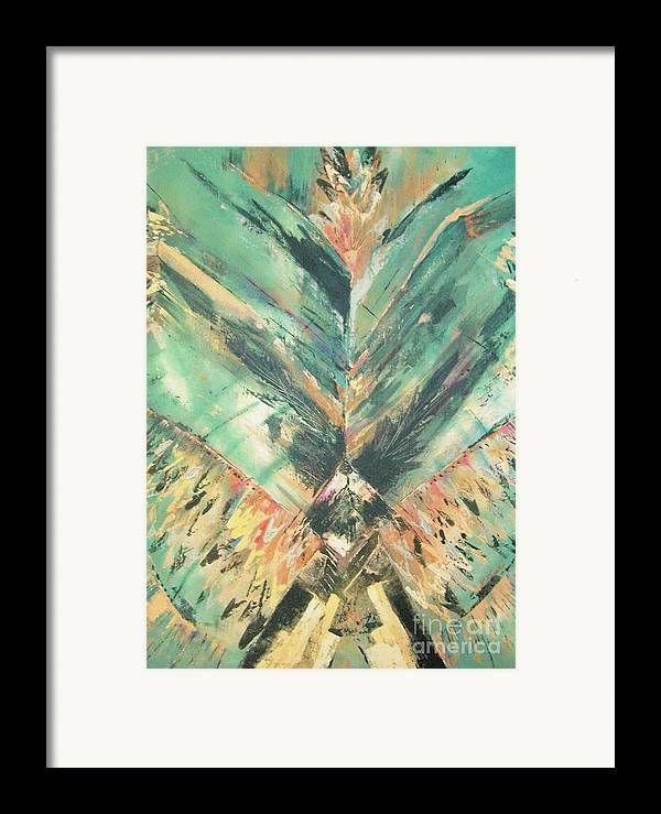 Southwest Framed Print featuring the painting Flight by Linda Frank