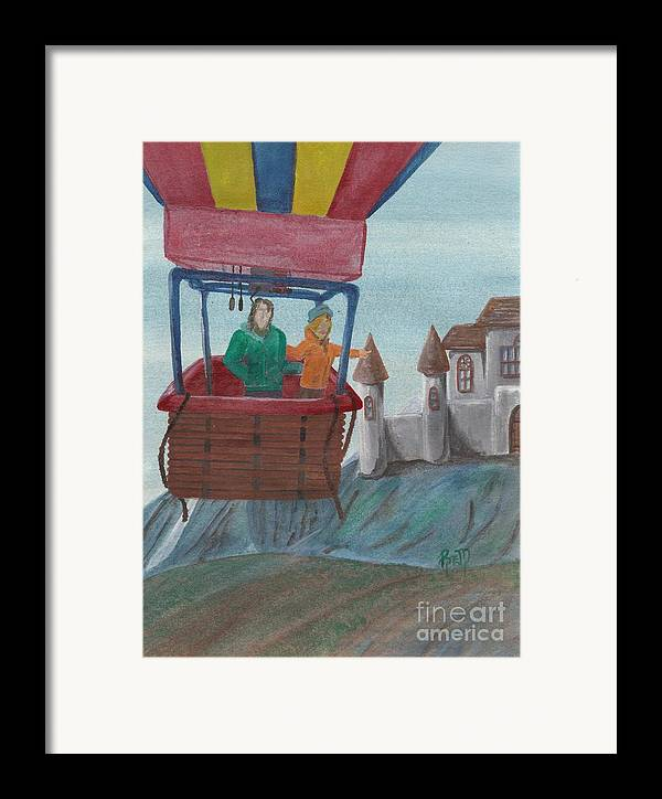 Landscape Framed Print featuring the painting Flight Of Fancy by Robert Meszaros