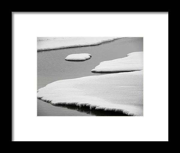 Winter Framed Print featuring the photograph Floating Away by Teresa Schomig