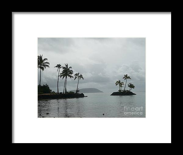 Tropical Landscape Framed Print featuring the painting Floating Island by Lynn Hall