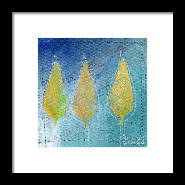 Abstract Framed Print featuring the painting Floating by Linda Woods