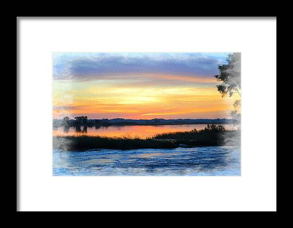 Marsh Framed Print featuring the photograph Flooded River by Bonfire Photography