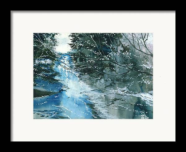 Nature Framed Print featuring the painting Floods 3 by Anil Nene