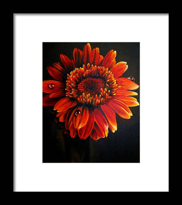 Floral Framed Print featuring the painting Flora by Stephanie LeVasseur