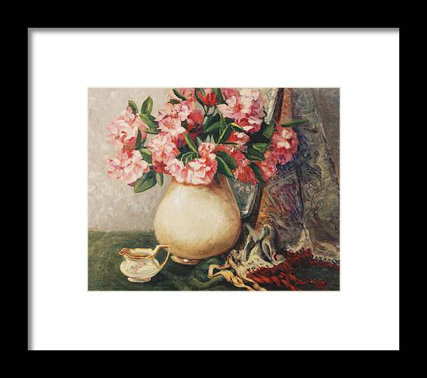 Floral Framed Print featuring the painting Floral 12 by Joan Columbus