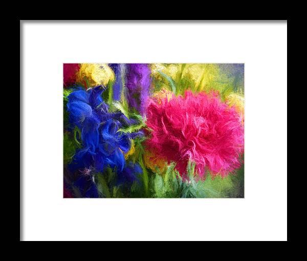 Flowers Framed Print featuring the digital art Floral Art Xxxxvi by Tina Baxter