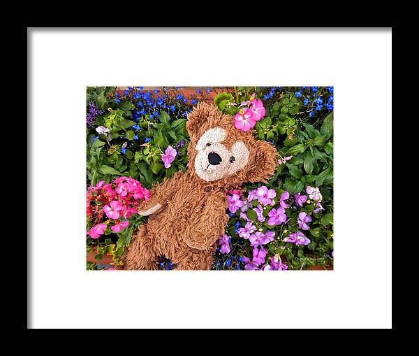 Fantasy Framed Print featuring the photograph Floral Bear by Thomas Woolworth