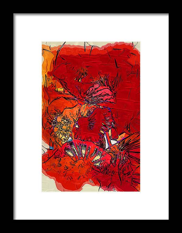 Abstract Framed Print featuring the digital art Floral Bouquet by Kirt Tisdale