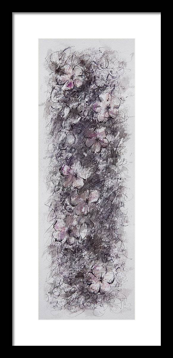 Floral Framed Print featuring the painting floral cascade II by William Russell Nowicki