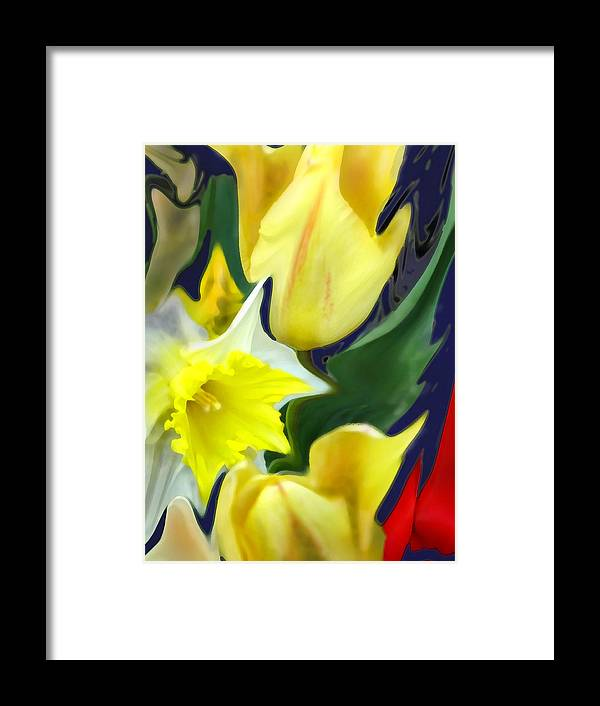 Abstract Framed Print featuring the digital art Floral Flow by Ian MacDonald