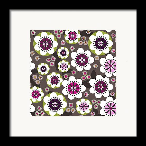 Posters Framed Print featuring the digital art Floral Grunge by Lisa Noneman