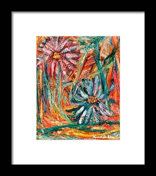 Kendall Kessler Framed Print featuring the painting Floral Swirl by Kendall Kessler