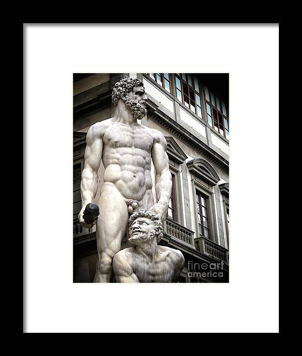 Ancient Framed Print featuring the photograph Florence Statue by Ulisse