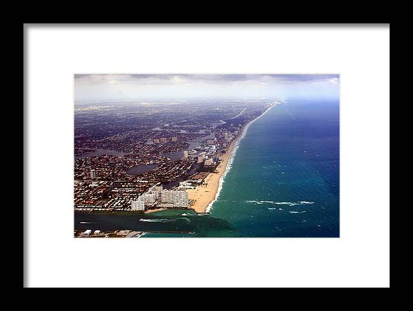 Florida Framed Print featuring the photograph Florida Coast Line-2 by Denise Moore