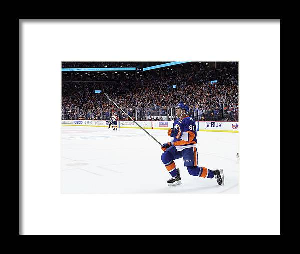 Playoffs Framed Print featuring the photograph Florida Panthers V New York Islanders - by Bruce Bennett