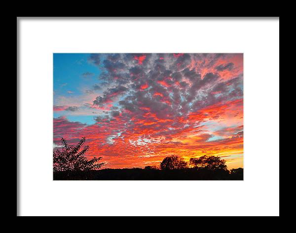 Landscapes Framed Print featuring the photograph Florida Spring Sunset by Deborah Good