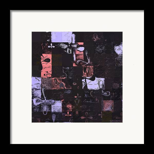 Abbstract Floral Digital Art Digital Art Digital Art Framed Print featuring the digital art Florus Pokus 01e by Variance Collections