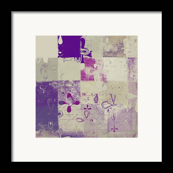 Abbstract Floral Digital Art Digital Art Framed Print featuring the digital art Florus Pokus 02d by Variance Collections