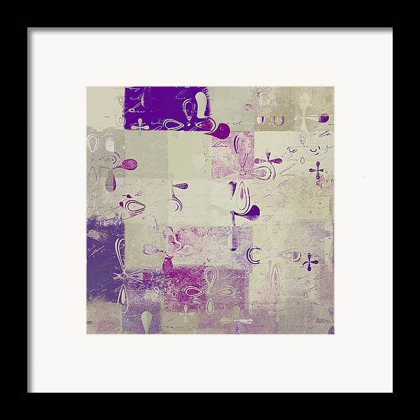 Abbstract Floral Digital Art Framed Print featuring the digital art Florus Pokus A01d by Variance Collections