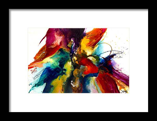 Abstract Framed Print featuring the painting Flourish IIi by Jonas Gerard